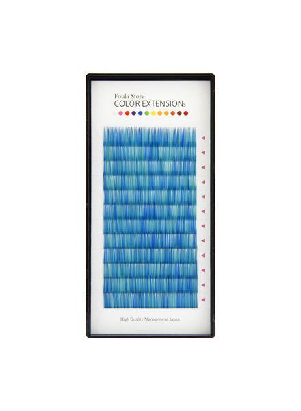 Color Volume Up Lash 12 Lines Random MIX Blue
