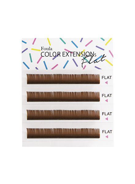 Color Flat Lash 4 Rows Sheet Brown